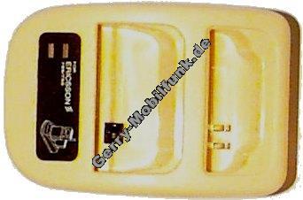 Duoladestation für Ericsson T10/T18/7xx gelb (ohne Netzteil) Minilader Tischlader