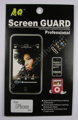 Displayschutzfolie Apple iPhone 3Gs selbstklebende Schutzfolie für LCD-Display, Displayfolie incl. Reinigungstuch