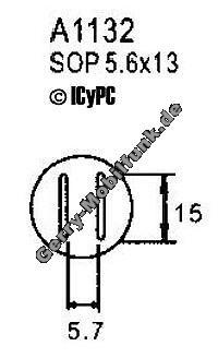 Ersatz Heißluftdüse, paralell, 5,7mm x 15  für Aoyue 968 und 850C SOP 5,6x13