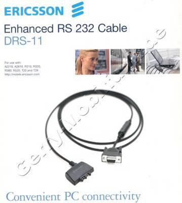 DRS-11 RS232-Datenkabel original Ericsson A2618s/R320s/R380s/R520m/T20/T28/T29s/T39m / T65 / T68 / T68i / T200  serieller Anschluß