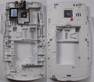 Unterschale, Gehäuseträger weiss Nokia X2-01 D-Cover white incl. Freisprechlautsprecher, Ladebuches, Headset Konnektor, Headsetbuchse, Kamerascheibe, BT-Antenne, Bluetooth USB-Abdeckung , Speicherkartenabdeckung