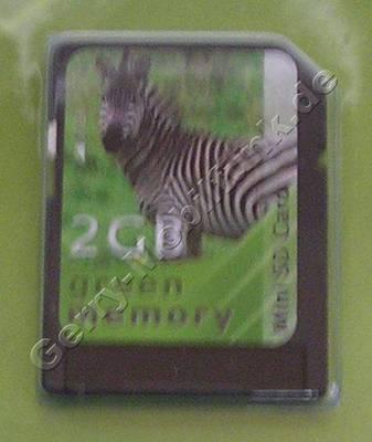 Alcatel OT-S853 Mini Secure Digital 2GB Speicherkarte mit Adapter für als normale SD-Karte, Mini SD