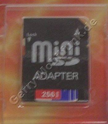 02 XDA mini S Mins-SD 256MB Speicherkarte mit Adapter für als normale SD-Karte