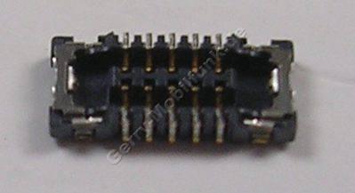 10 Pol SMD Platinen Konnektor Nokia Lumia 830 original CONN BTB 2*5 F P0.4 TIKKU, 2x5 Pin Sockel vom Flexkabel für die Seitentasten